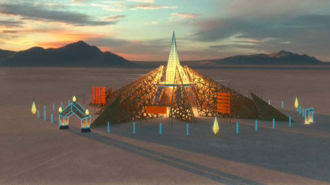 Burning Man unveils new temple for 2020 festival