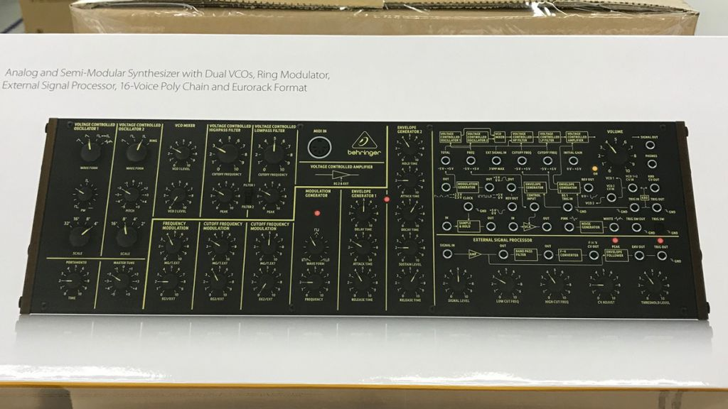Behringer's KORG MS-20 synth clone has gone on sale