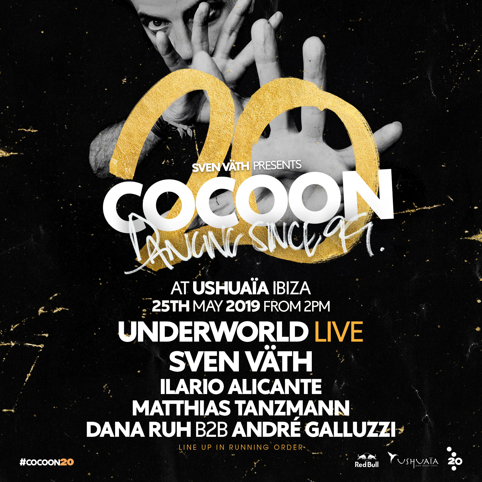 Cocoon Ibiza 20th birthday Ushuaïa line-up
