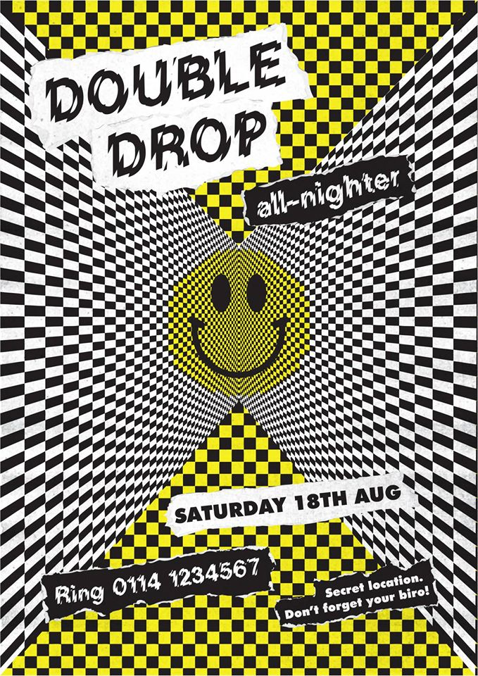This is england artists design 39 90s inspired rave flyers for 90s acid rave