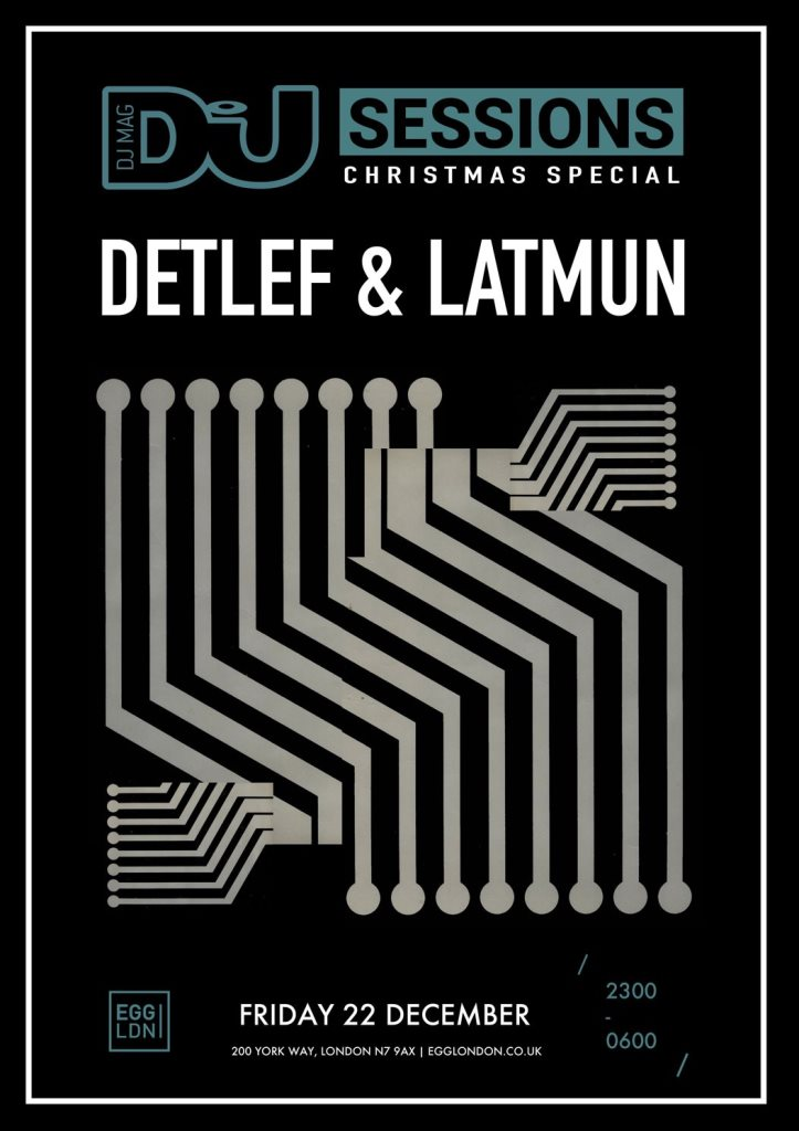 Detlef & Latmun announced for DJ Mag Sessions Christmas Special at Egg London