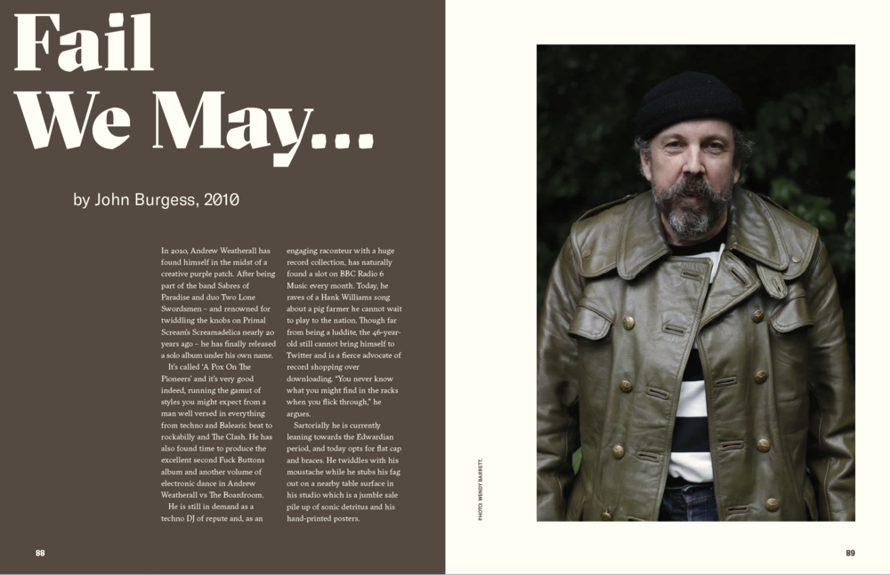 'Andrew Weatherall: A Jockey Slut Tribute' is available to pre-order now