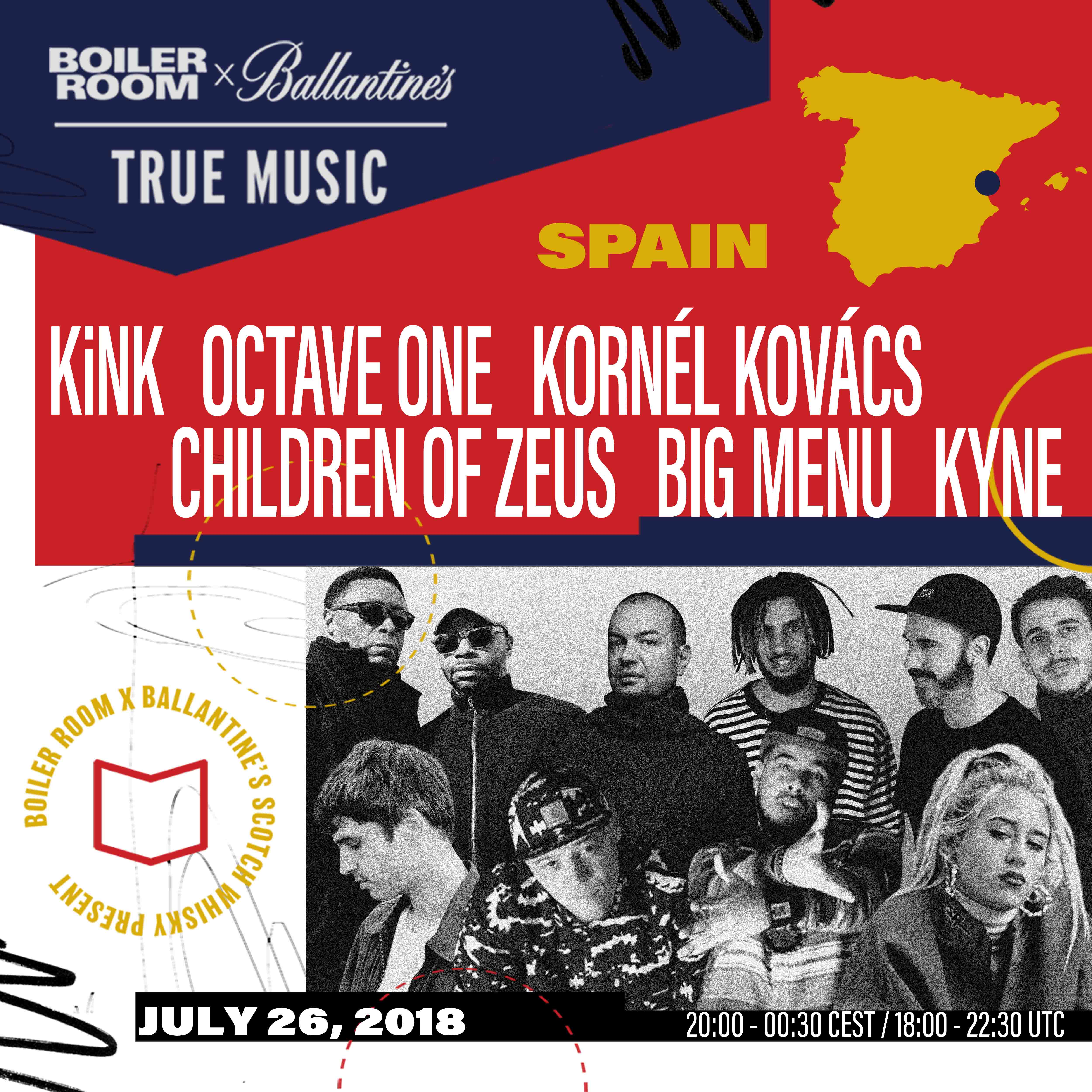 KiNK and Octave One to play final Boiler Room x Ballantine's True Music: Hybrid Sounds show in Valencia