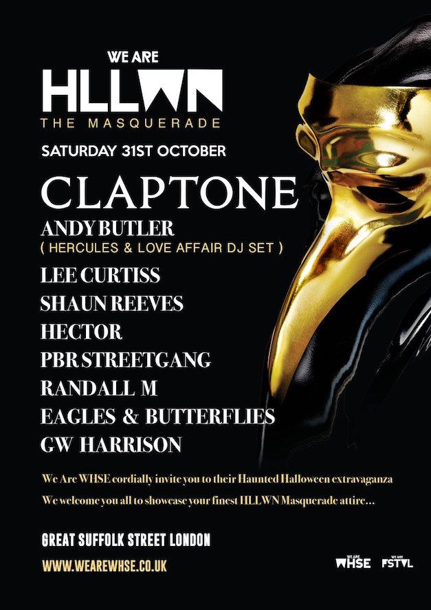 WIN VIP! CLAPTONE HALLOWEEN MASQUERADE