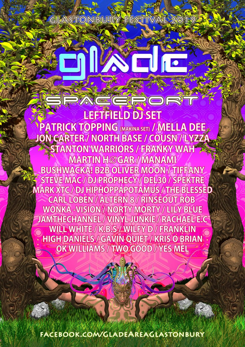 Glade Glastonbury 2019 line-up
