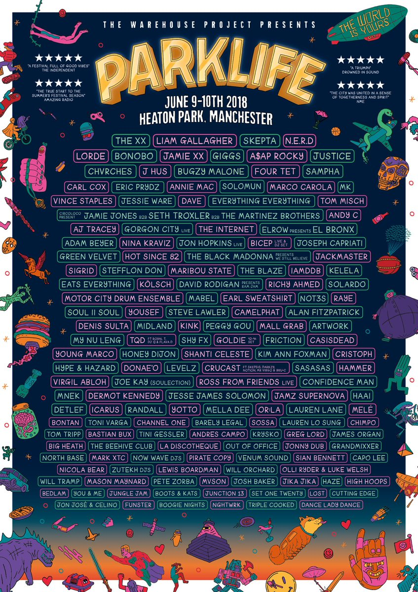 Parklife Festival line-up