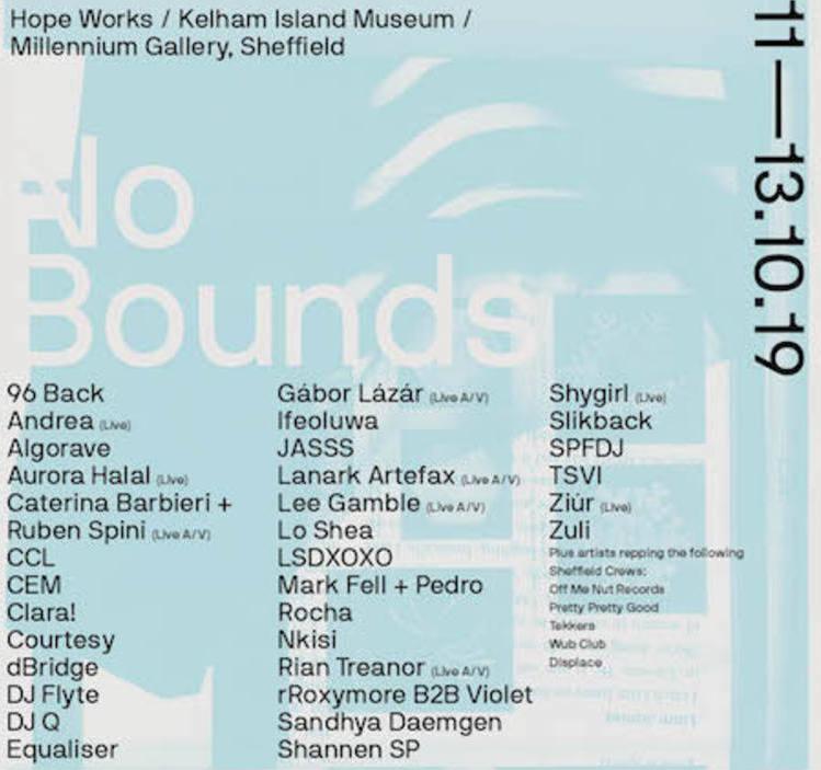 No Bounds Festival Line-up 1
