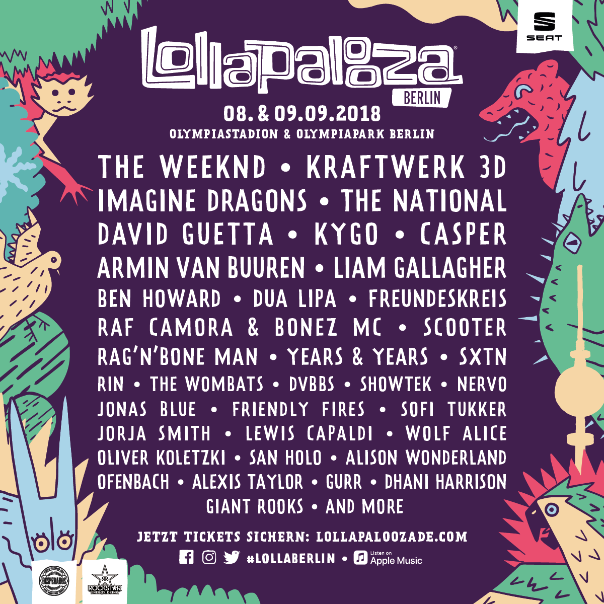Lollapalooza Berlin full line-up