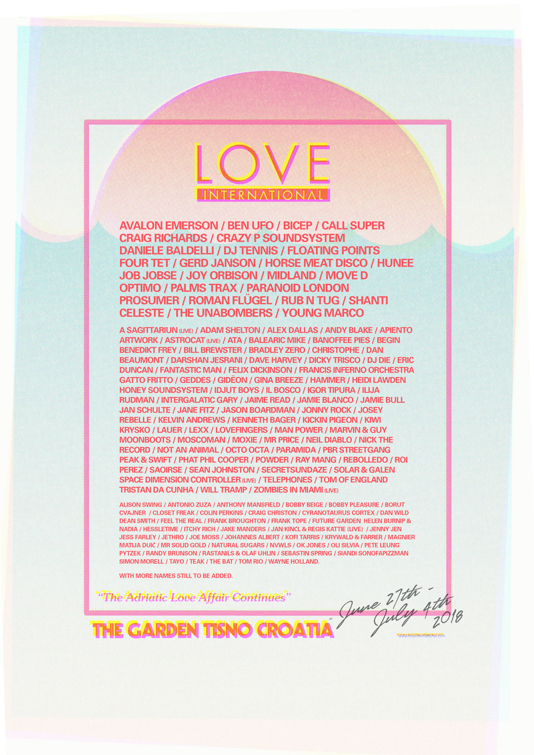 Love International locks Hunee, Four Tet, Floating Points, Bicep, more