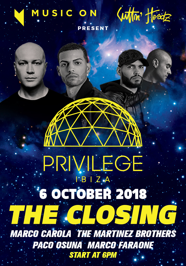 Privilege Closing Music On Flyer