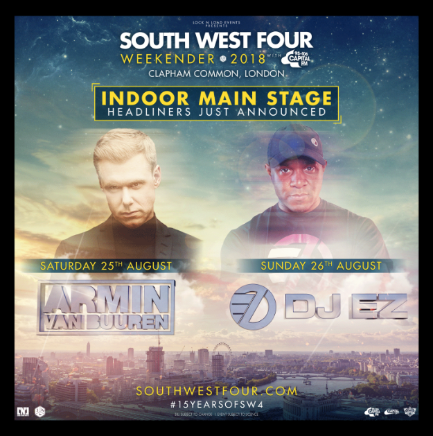 Armin van Buuren and DJ EZ to headline SW4 Weekender 2018