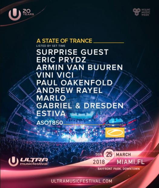 Eric Prydz, Armin Van Buuren, Paul Oakenfold, more locked