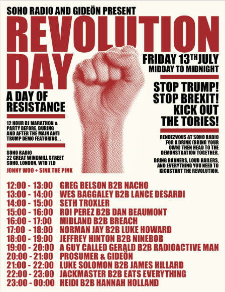 Donald Trump protest: Set times shared for day of resistance with Midland, Jackmaster, Seth Troxler, more
