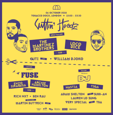 Nastia, Tiga, Lauren Lo Sung, more added to Cuttin Headz party at London's Tobacco Dock