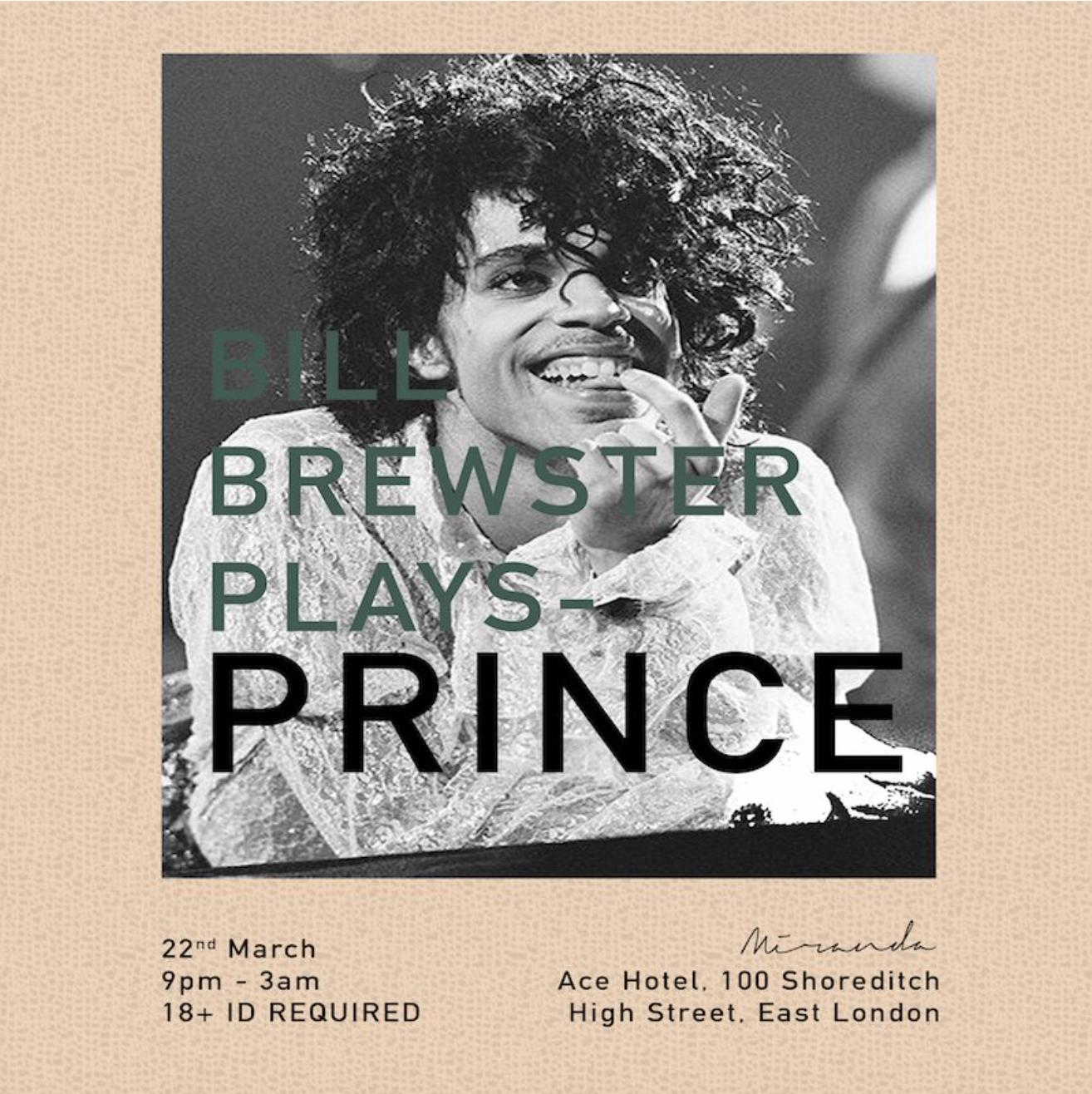 Bill Brewster picks his five favourite Prince tunes: Listen