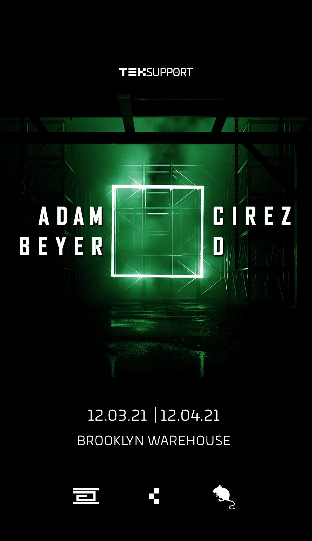 Eric Prydz Adam Beyer Brooklyn warehouse Cirez D December 2021