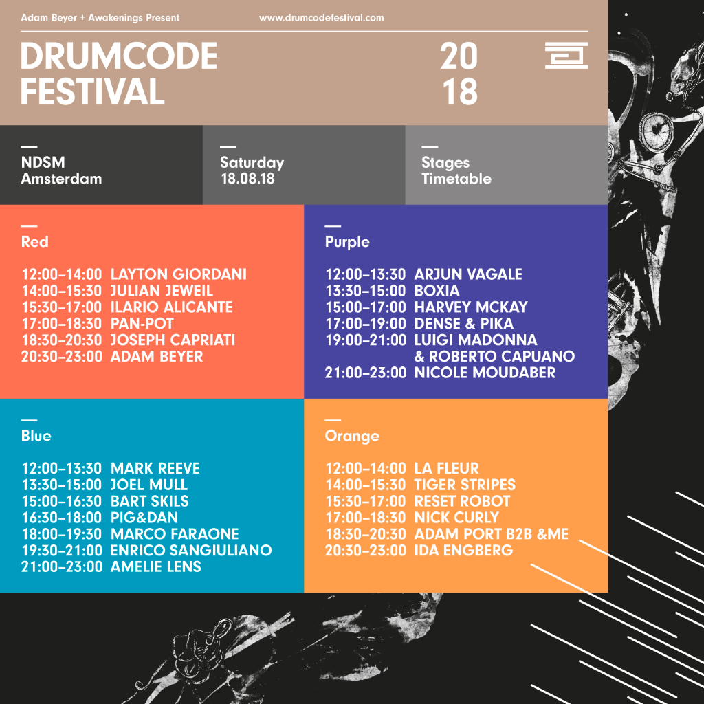Drumcode Festival full line-up and set times