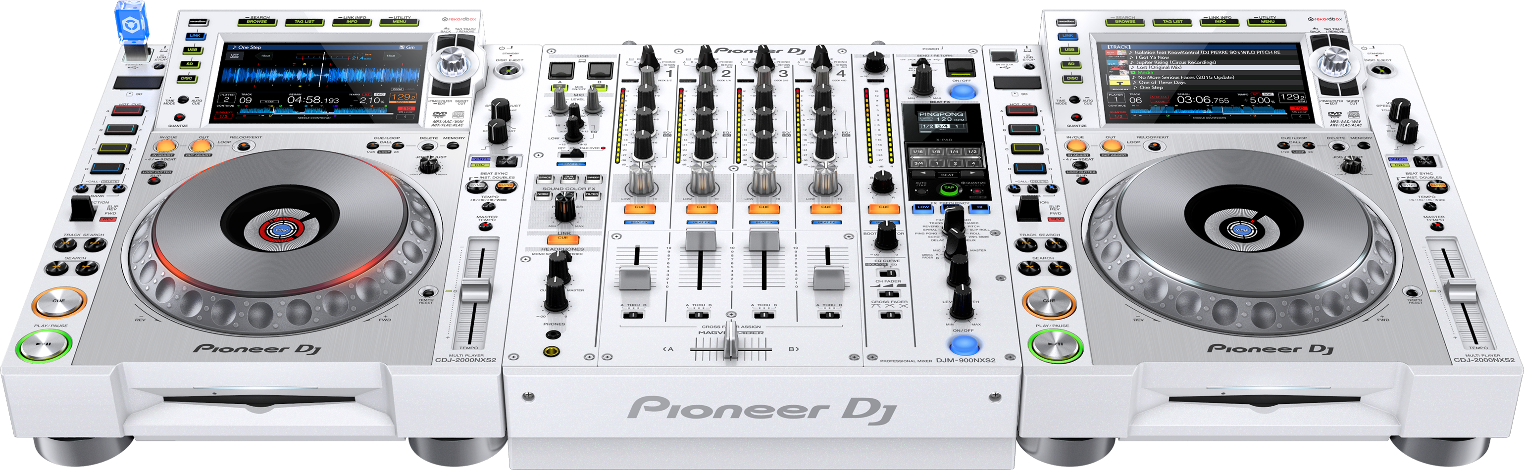 pioneer dj announce new white cdjs and djm. Black Bedroom Furniture Sets. Home Design Ideas