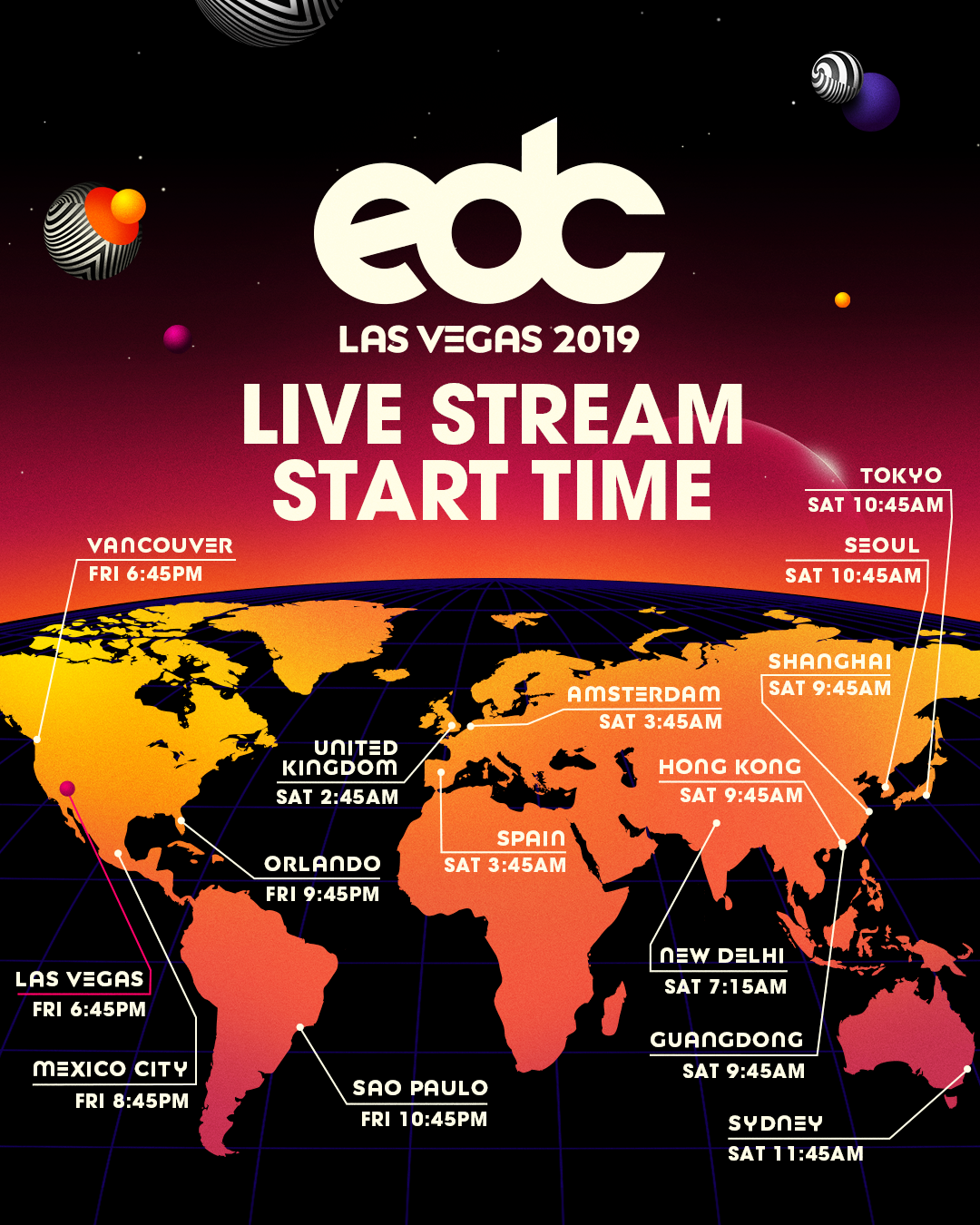 EDC Las Vegas 2019 Live Streams