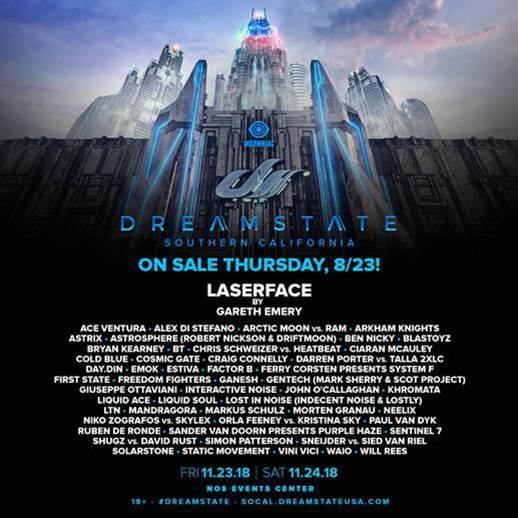 Dreamstate SoCal 2018 line-up