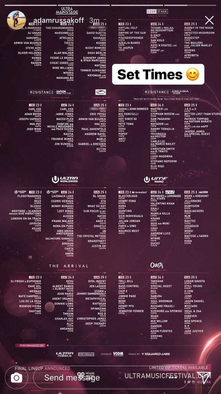 Ultra Music Festival Reveals Full 2018 Schedule Djmag Com