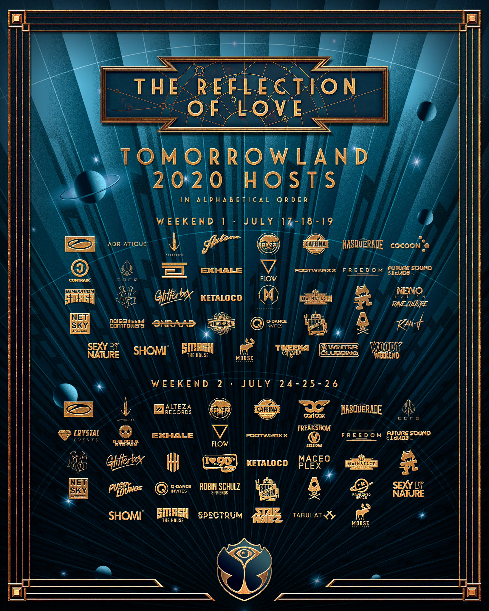 Tomorrowland reveals 2020 stage hosts: Carl Cox, Adam Beyer, Claptone, Afterlife, and moreTl Stage Hosts