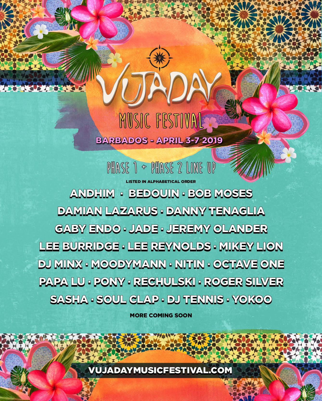 Vujaday festival locks Danny Tenaglia, Moodymann, Sasha, more for