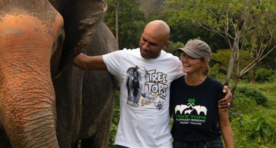 Goldie designs graffiti-style t-shirt to raise funds for endangered elephant reserve