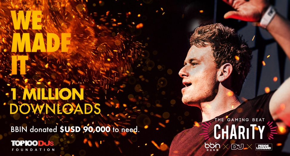 BBIN TGBCharity Target Achieved - Fedde le Grand