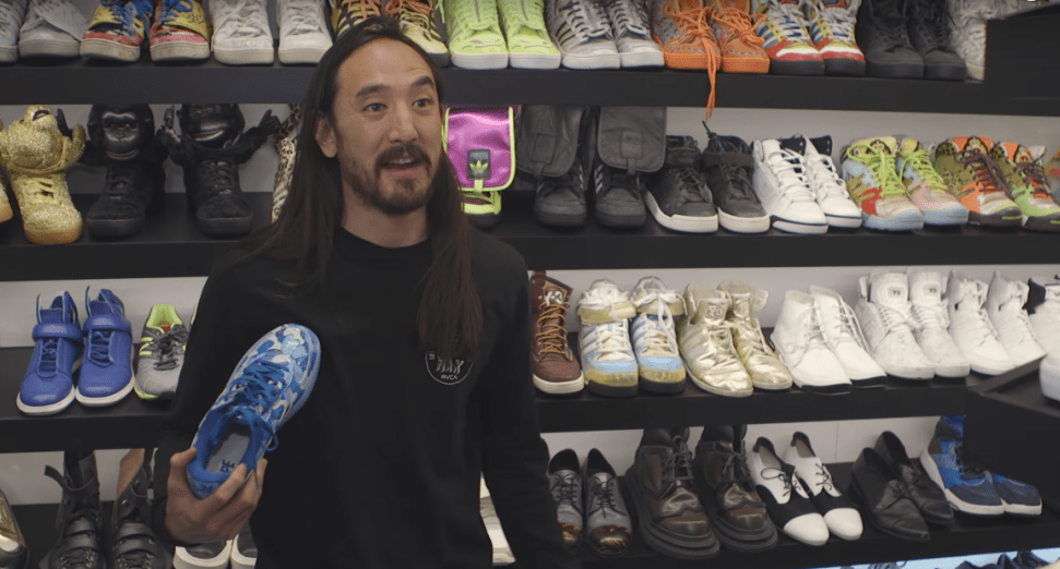 Steve Aoki shows off his $100k sneaker collection