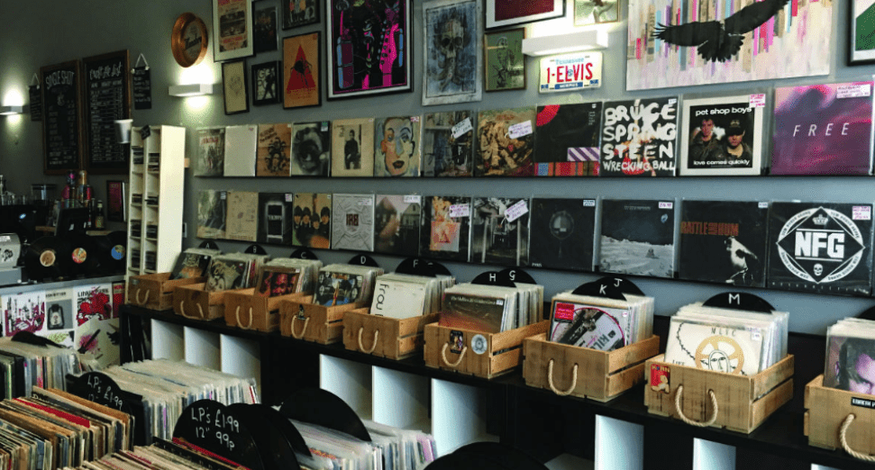 Independent record shops against major labels