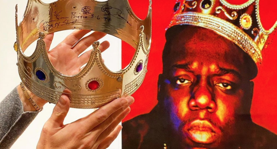 The Notorious B.I.G.'s iconic crown sells for almost $600,000