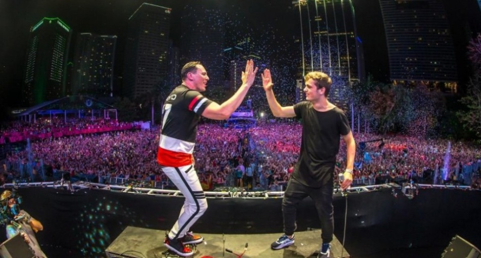 Martin Garrix with Tiësto at Ultra Music Festival Miami