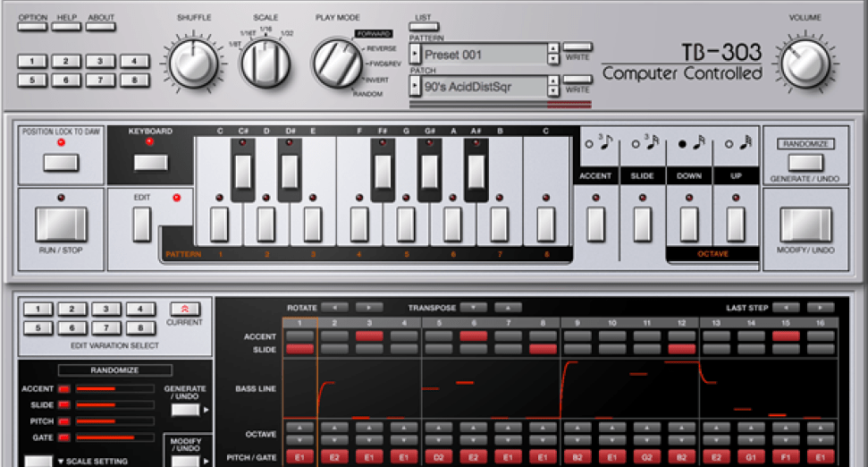 Roland TB303 cloud synth