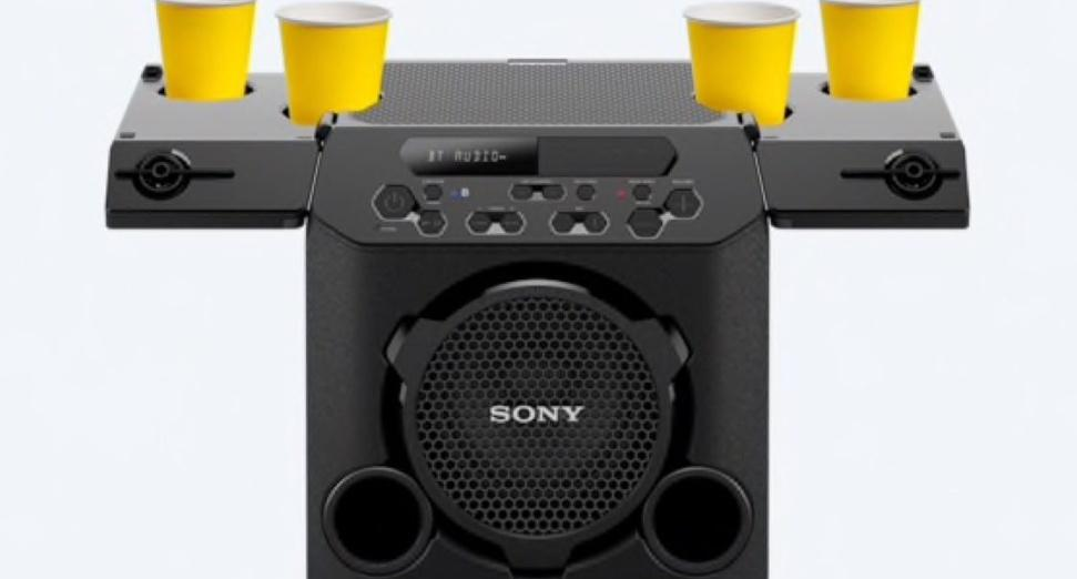Sony bluetooth speaker cup holder