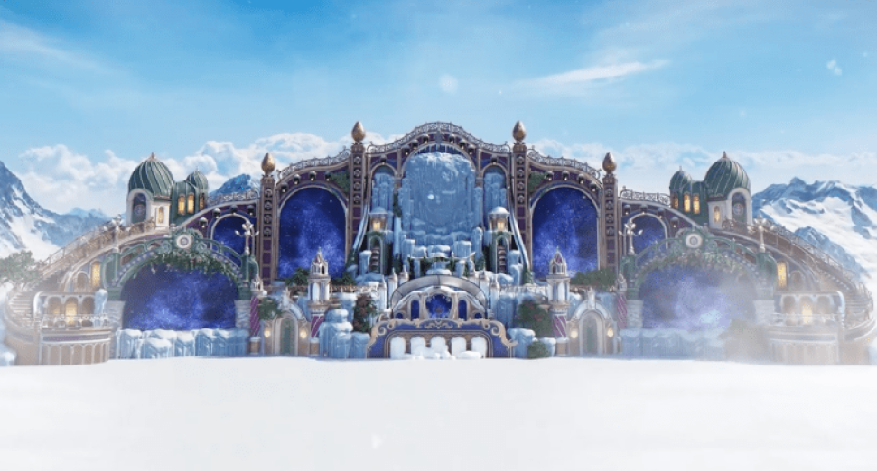 Tomorrowland winter stage design